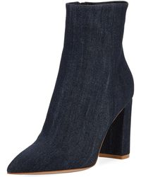 Gianvito Rossi - Denim Point-toe 85mm Boot - Lyst