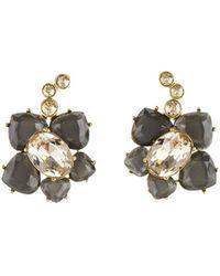 Oscar de la Renta | Faceted Resin Flower Clip-on Earrings | Lyst