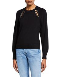 Ramy Brook - Georgia Lace-up Cutout Pullover Sweater - Lyst