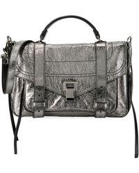 Proenza Schouler - Ps1+ Medium Metallic Paper Leather Satchel Bag - Lyst
