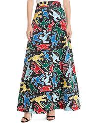 Alice + Olivia - Keith Haring X Ursula Embellished Skirt - Lyst