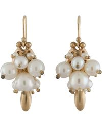Ted Muehling - White Pearl Bug Earrings - Lyst