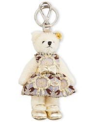 Prada Linda Bear Keychain With Party Dress - Natural