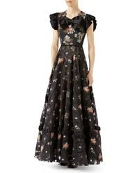 Gucci | Floral Duchesse Gown | Lyst