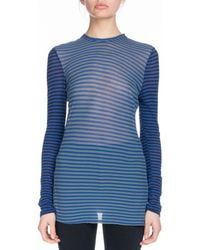 Proenza Schouler - Pswl Crewneck Long-sleeve Striped Jersey Top - Lyst