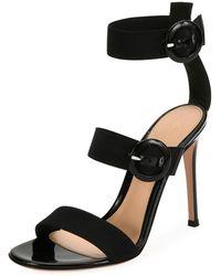 c12e0748335 Lyst - Laurence Dacade Klio Nubuck Three-buckle Sandal in Black
