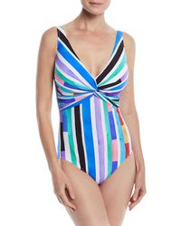 Gottex - Carnival V-neck One-piece Swimsuit - Lyst
