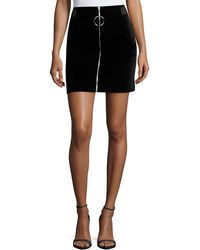 Thierry Mugler - Jupe Zip-front Mini Skirt - Lyst