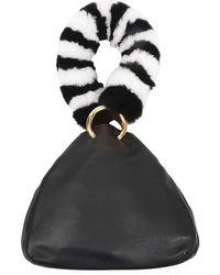 Les Petits Joueurs - Holly Leather Fur-handle Bag - Lyst