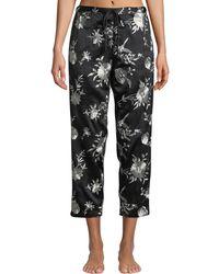 Natori - Miyako Floral-print Cropped Trousers - Lyst