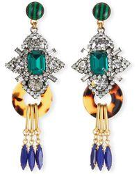 6034fc5d15dab Lyst - Elizabeth Cole Sakura Tassel Beaded Drop Earrings in Blue
