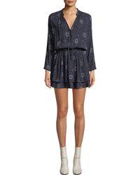 Rails - Jasmine Printed Long-sleeve Mini Dress - Lyst