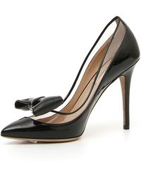Valentino - Glassglow Patent Bow Pumps - Lyst