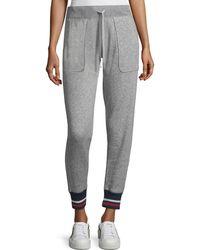 Joie | Denicah Heathered Drawstring Jogger Pants W/ Striped Trim | Lyst