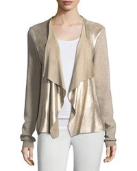 Elie Tahari | Richardson Metallic-knit Sweater | Lyst