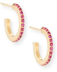Lana Jewelry - Girls' Pink Sapphire Huggie Hoop Earrings - Lyst