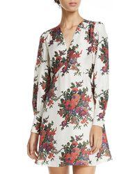 McQ - Vintage Floral-print Empire Short Dress - Lyst