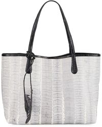 Nancy Gonzalez - Erica Medium Snakeskin Tote Bag - Lyst