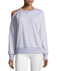 Jason Wu - Oversized Cold-shoulder Sweatshirt - Lyst