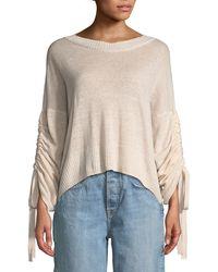 A.L.C. - Zora Linen/cashmere-blend Drawstring-sleeve Sweater - Lyst
