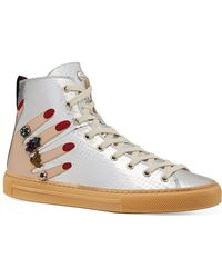 4e2cdc3e8c16 Lyst - Gucci Major Sneakers - Women s Gucci Major High-Top   Low-Top ...