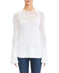 Theory - Bell-sleeve Sweater - Lyst
