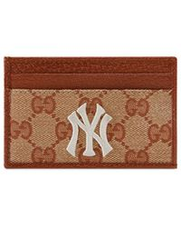 08b70863ba50e Gucci - Men s Credit Card Case With Ny Yankeestm Patch - Lyst