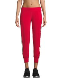 Norma Kamali - Side-stripe Ankle Jogger Trousers - Lyst