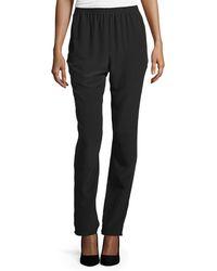 Eskandar - Slim-leg Silk Trousers - Lyst