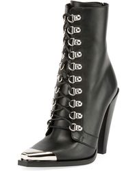 Balmain - Calamity Lace-up Cap-toe Boots - Lyst