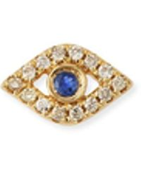 Sydney Evan - 14k Diamond Mini Evil Eye Single Stud Earring - Lyst