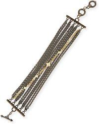 Armenta - Old World Multi-chain Bracelet With Diamonds - Lyst