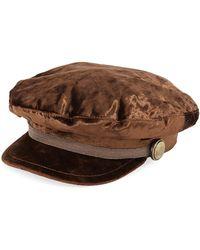 Brunello Cucinelli - Velvet Driving Hat W/ Monili Trim - Lyst