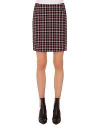 Akris Punto - Glen Check Woven Straight Back-zip Mini Skirt - Lyst