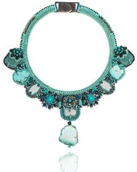Ranjana Khan - Beaded Turquoise Statement Necklace - Lyst