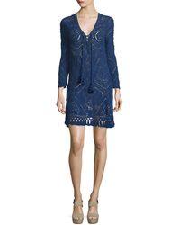Calypso St. Barth | Perfa Long-sleeve Tunic Dress | Lyst