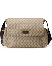 ac810714a47b58 Gucci Micro GG Supreme Canvas Stars Diaper Bag in Brown - Lyst