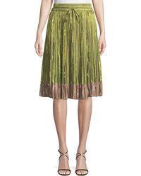 RED Valentino - Iridescent Pleated A-line Skirt - Lyst