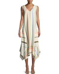 Lafayette 148 New York - Isla Mesa Stripe V-neck Dress - Lyst