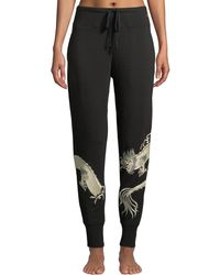Natori - Dragon-embroidered Cocoon Jogger Trousers - Lyst