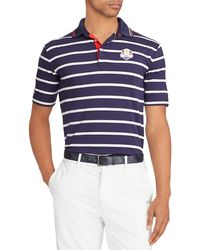 "Ralph Lauren - Men's ""friday"" Usa Ryder Cup Striped French-knit Golf Polo Shirt - Lyst"