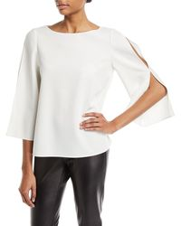 Lafayette 148 New York - Candace Slit Bell Sleeve Blouse - Lyst