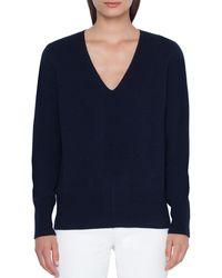 Akris - V-neck Cashmere Pullover Sweater - Lyst