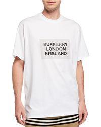 2371dd52 Burberry - Men's Oversize London England Logo T-shirt - Lyst