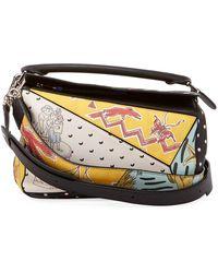 Loewe - X Paula's Ibiza Ii Patchwork Satchel Bag - Lyst