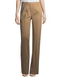 Max Mara - Camel Hair Straight-leg Pants - Lyst