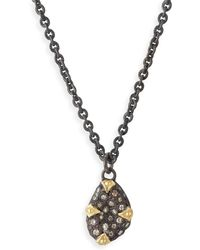 Armenta - Old World Diamond Bean Necklace - Lyst