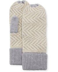 Ugg | Chevron Wool-blend Mittens | Lyst