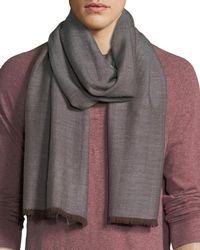 Eton of Sweden - Men's Wool Herringbone Scarf - Lyst