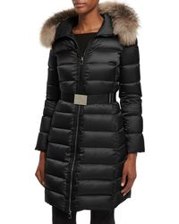 6484924e9 Lyst - Moncler  tinuviel  Coat in Black